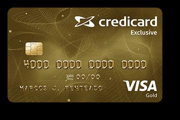 Cartão de Crédito Credicard Exclusive Gold Visa