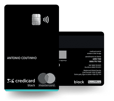 Cartão de Crédito Credicard Mastercard BLACK