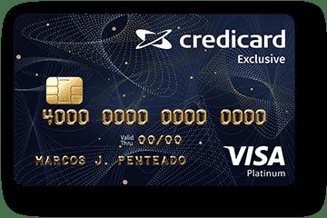 Cartão de Crédito Credicard Exclusive Platinum Visa