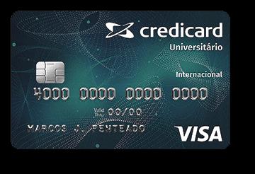 Cartão de Crédito Credicard Universitário Visa