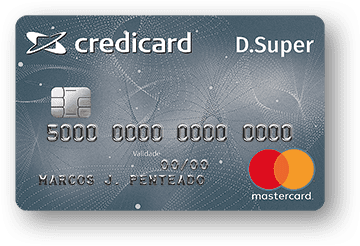 Cartão de Crédito Credicard D. Super Local Mastercard
