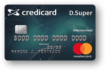 Cartão de Crédito Credicard D. Super Internacional Mastercard