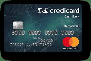 Cartão de Crédito Credicard Cashback Internacional Mastercard