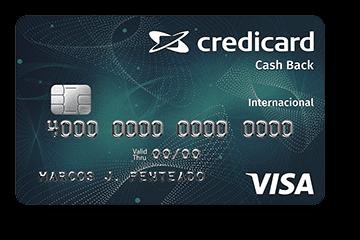 Cartão de Crédito Credicard Cashback Internacional Visa