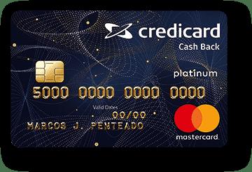 Cartão de Crédito Credicard Cashback Platinum Mastercard