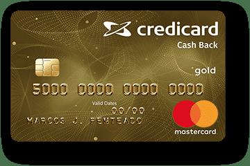 Cartão de Crédito Credicard Cashback Gold Mastercard