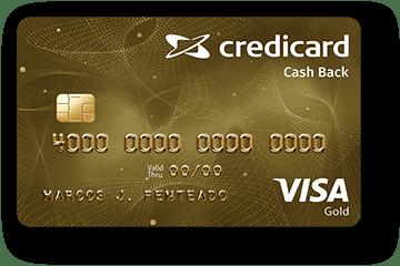 Cartão de Crédito Credicard Cashback Gold Visa